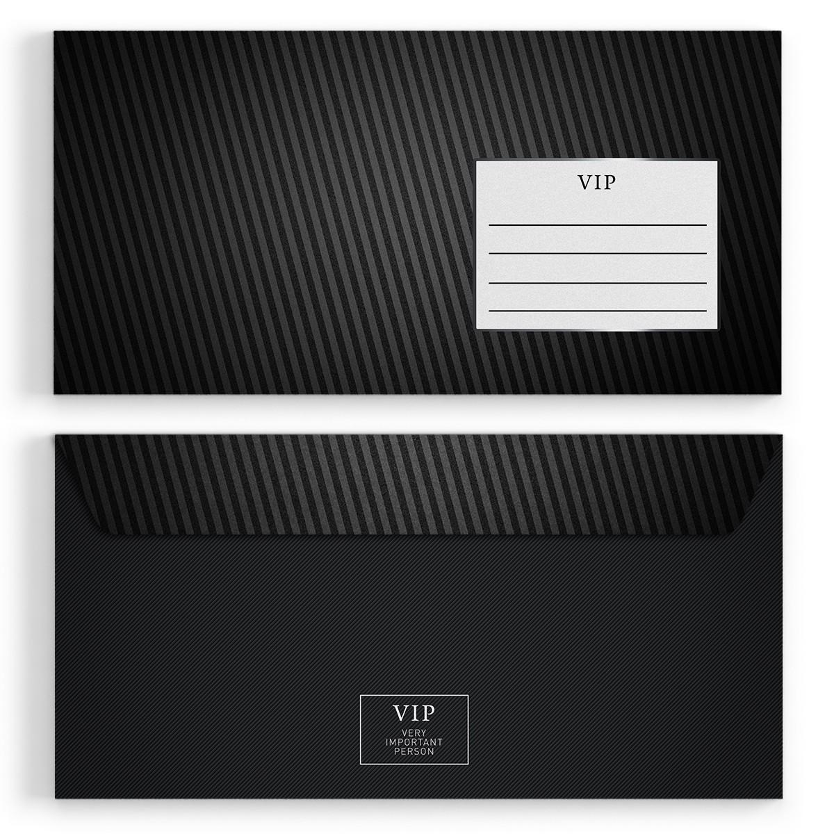 Briefumschläge   VIP Silber   DIN Lang