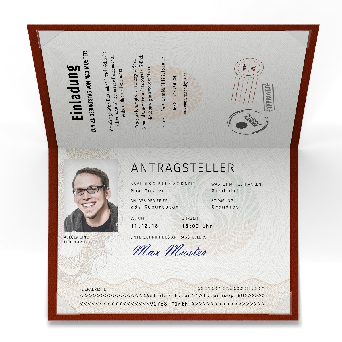 Einladungskarten Als Reisepass