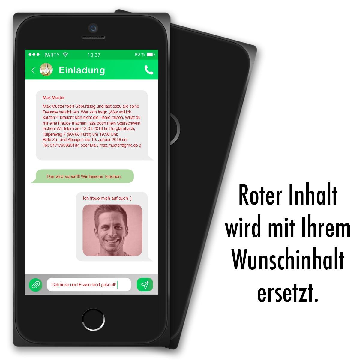 Einladungskarten Gestalten Kostenlos Amazon: Einladungskarten Als Smartphone Mit Bild Ab 55 Cent