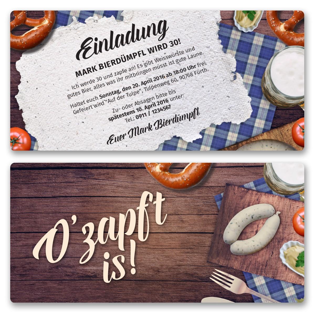 einladungskarten zum oktoberfest bestellen, Einladungsentwurf