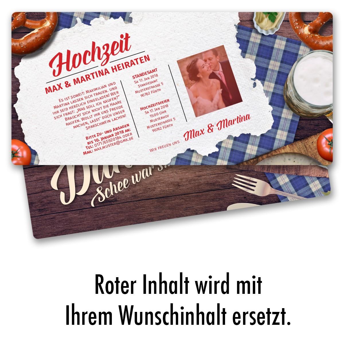 Hochzeitskarten Im Hutt N Design Ab 55 Cent Einladung