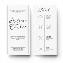 Einladungen zur Hochzeit - Edel Schwarz Weiß