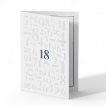 Einladung 18. Geburtstag - Zahlen