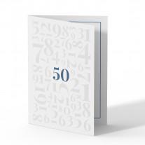 Einladung 50. Geburtstag - Zahlen