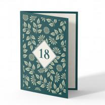 Einladung 18. Geburtstag - Pflanzen
