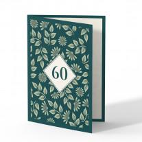 Einladung 60. Geburtstag - Pflanzen