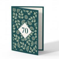 Einladung 70. Geburtstag - Pflanzen