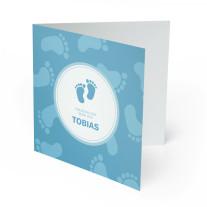Einladungskarten zur Taufe - Tapser Blau