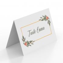 Tischkarten zur Hochzeit - Gold Pflanzen