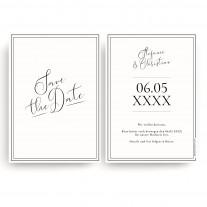Save the Date Karten zur Hochzeit - Edel Schwarz Weiß