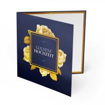 Hochzeitseinladungen - Goldene Hochzeit Rosen