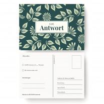 Antwortkarten Hochzeit - Blumenornamente
