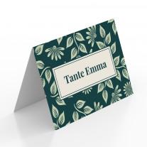 Tischkarten zur Hochzeit - Blumenornamente