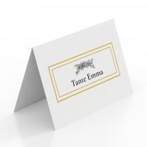 Tischkarten zur Hochzeit - Weiß Gold