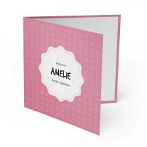 Geburtskarten - Punkte Rosa Mädchen