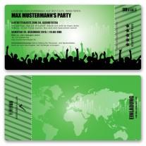 Einladungskarten als Eintrittskarte - Beats Grün