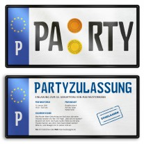 Einladungskarten als Nummernschild