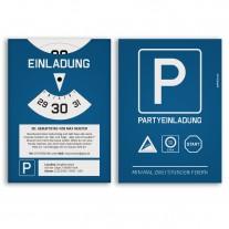 Einladungskarten als Parkscheibe
