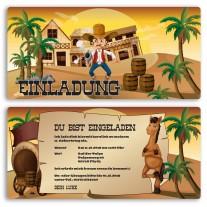 Einladungskarten - Cowboy
