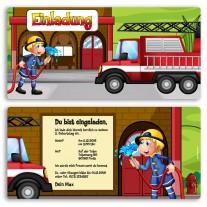 Einladungskarten - Feuerwehr