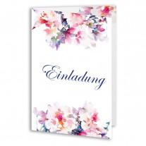 Hochzeitseinladungen - Blumen Aquarell