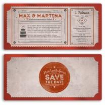 Hochzeitskarten als Eintrittskarte - Vintage