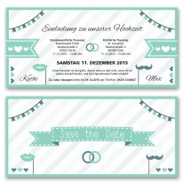 Hochzeitskarten - Mint