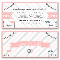 Hochzeitskarten - Pink