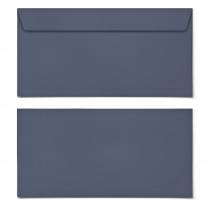 Briefumschläge - Blaugrau - DIN Lang