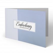 Geburtstagseinladung - Wasserfarbe Blau