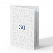 Einladung 30. Geburtstag - Zahlen