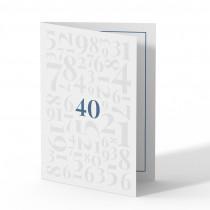 Einladung 40. Geburtstag - Zahlen