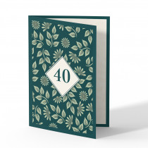 Einladung 40. Geburtstag - Pflanzen