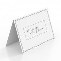 Tischkarten zur Hochzeit - Edel Schwarz Weiß