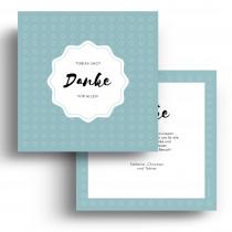 Geburtskarten Danksagungskarten - Punkte Blau Junge
