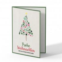 Weihnachtskarten - Wasserfarben Weihnachtsbaum