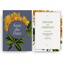 Save the Date Karten zur Hochzeit - Blumen Orange