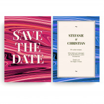 Save the Date Karten zur Hochzeit - Rot & Blau