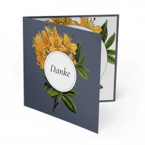 Hochzeit Dankeskarten - Blumen Orange