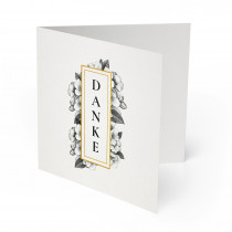 Hochzeit Dankeskarten - Weiß Gold