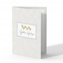 Hochzeitskarten Goldene Hochzeit - Zweig