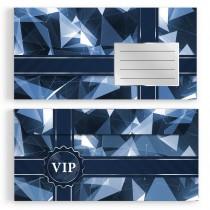 Briefumschläge - VIP Blau - DIN Lang