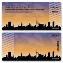 Einladungskarte als Skyline - Hamburg