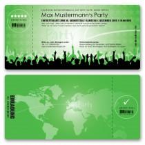 Einladungskarten als Eintrittskarte - Festival Grün