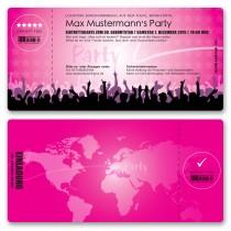 Einladungskarten als Eintrittskarte - Festival Pink