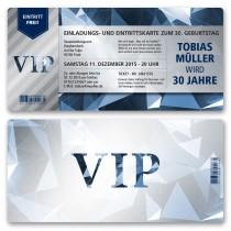 Einladungskarten als Eintrittskarte - VIP
