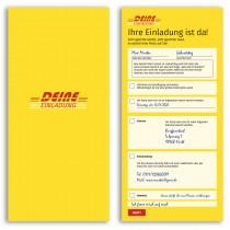 Einladungskarten als Paketzustellung