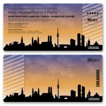 Einladungskarten als Skyline - München