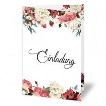 Einladungskarten - Blumen Aquarell
