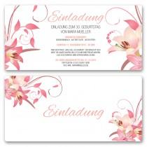 Einladungskarten - Blumen